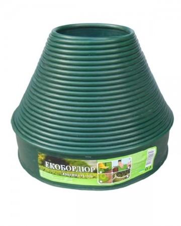 Садовый пластиковый бордюр цвет Зеленый